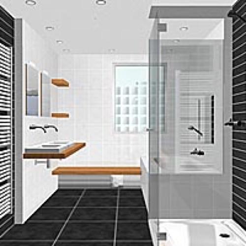De virtuele badkamer for Badkamer model